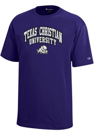 TCU Horned Frogs Youth Purple Arch Mascot T-Shirt
