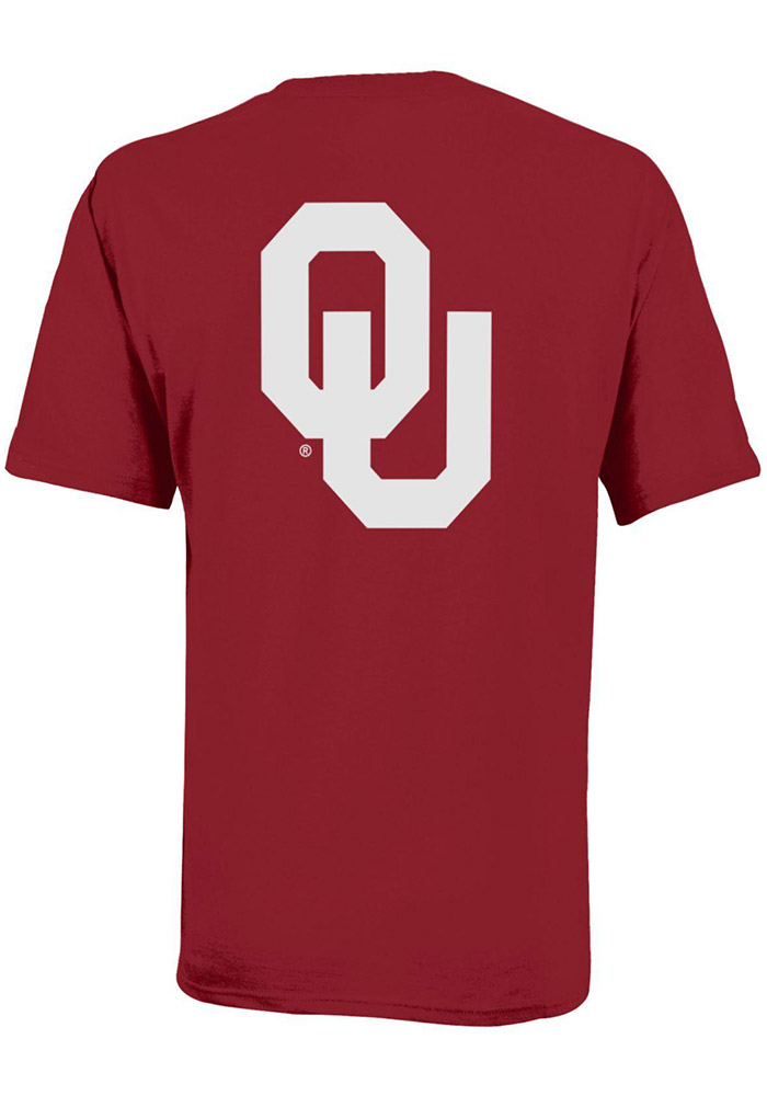 Champion Oklahoma Sooners Youth Crimson Rally Loud Short Sleeve T-Shirt - Image 2