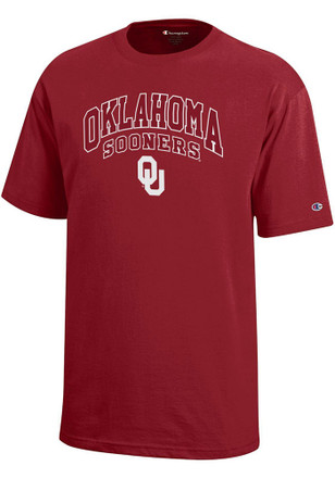 Oklahoma Sooners Kids Red Arch Mascot T-Shirt