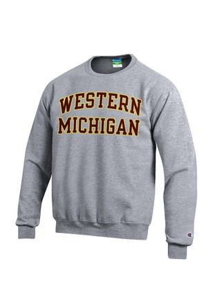 Western Michigan Broncos Mens Grey Twill Sweatshirt