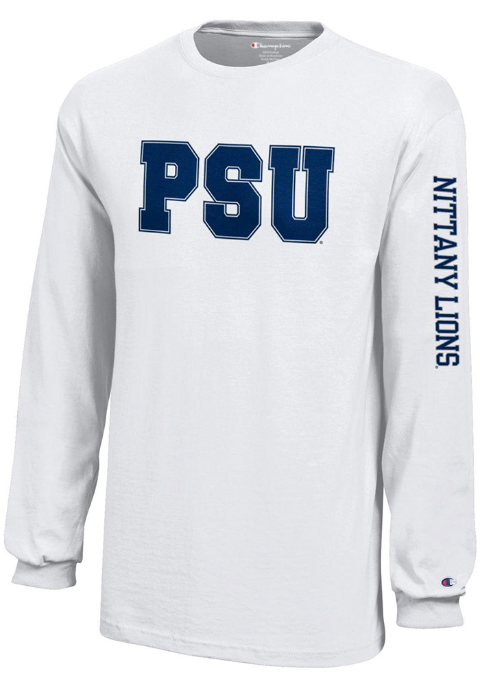 Penn State Nittany Lions Youth White Jersey Long Sleeve T-Shirt - Image 1