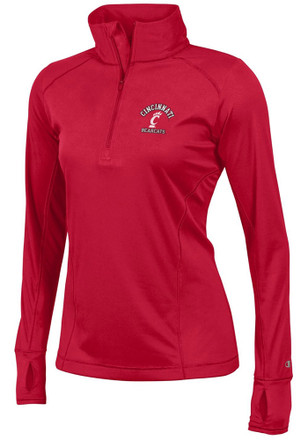 Cincinnati Womens Vapor Red 1/4 Zip Performance Pullover