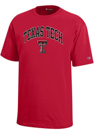 Texas Tech Red Raiders Youth Red Arch Mascot T-Shirt