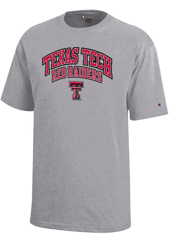 Texas Tech Red Raiders Youth Grey Arch Mascot Short Sleeve T-Shirt - Image 1