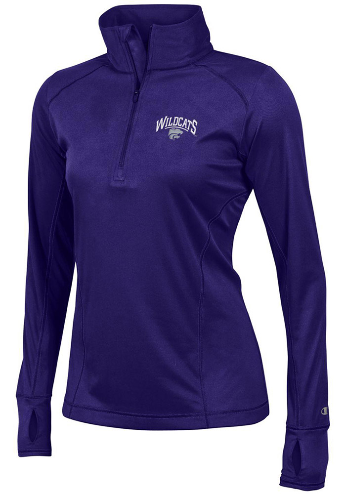 Champion K-State Wildcats Womens Purple Vapor 1/4 Zip Pullover - Image 1