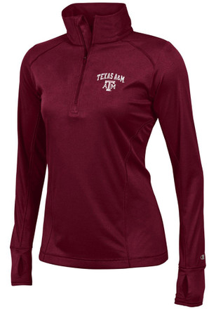 Texas A&M Womens Vapor Maroon 1/4 Zip Performance Pullover
