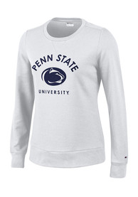 Champion Penn State Nittany Lions Juniors Eco University White Crew Sweatshirt