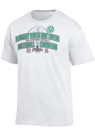 Northwest Mo State Bearcats Mens White Locker Room Tee