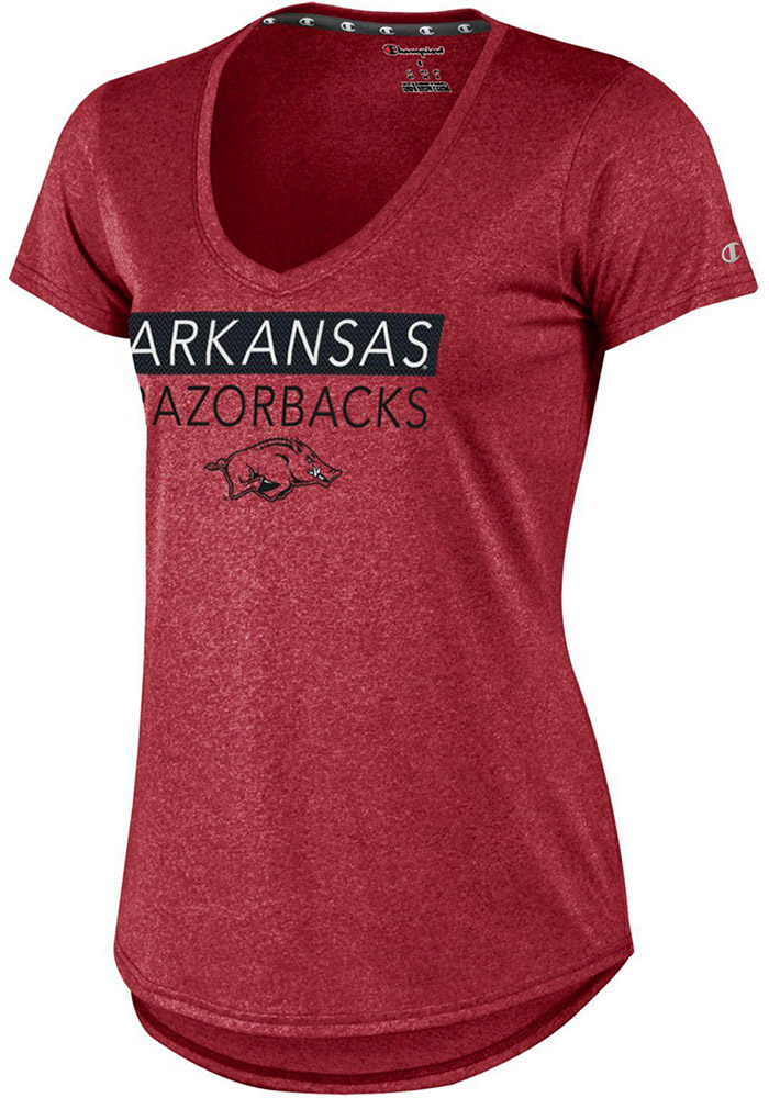 Champion Arkansas Razorbacks Womens Cardinal Epic T-Shirt - Image 1