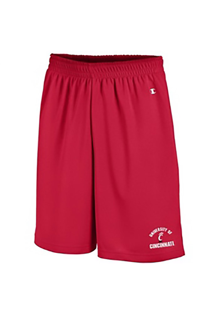 Champion Cincinnati Bearcats Mens Red Mesh Shorts, Red, 100% POLYESTER, Size S