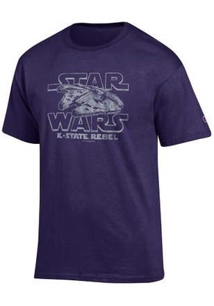 K-State Wildcats Mens Purple Star Wars Tee