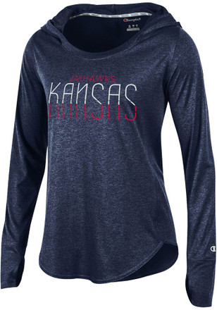 Kansas Jayhawks Womens Navy Blue Epic Traverse Hoodie