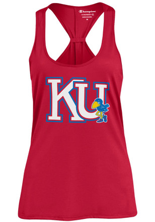 Kansas Jayhawks Womens Red Swing Tank Top