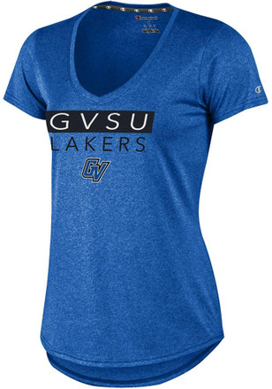 Champion Grand Valley State Lakers Womens Epic Blue Short Sleeve Tee