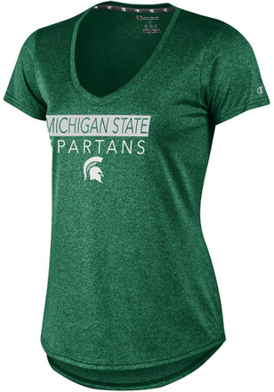 Michigan State Spartans Womens Epic Green Short Sleeve Tee