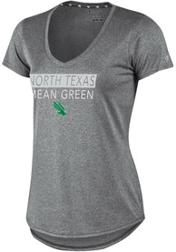 Champion North Texas Mean Green Womens Epic Grey Short Sleeve Tee