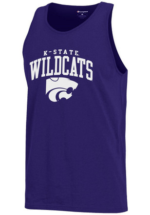 K-State Wildcats Mens Purple Arch Logo Tank Top