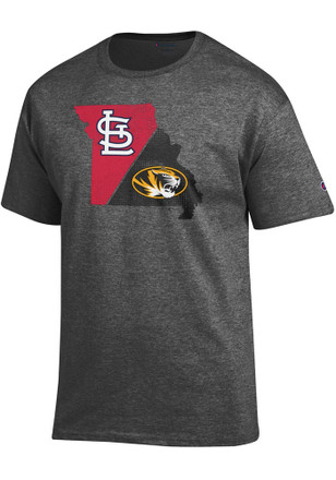 Mizzou Tigers Mens Grey MLB Collaboration Tee