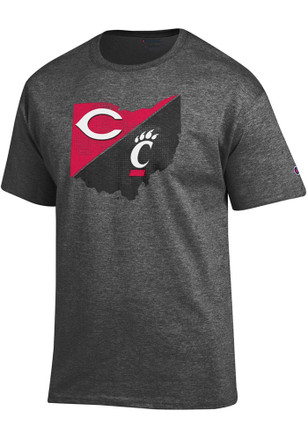 Cincinnati Bearcats Mens Grey MLB Collaboration Tee