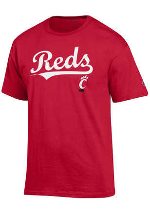 Cincinnati Bearcats Mens Red MLB Collaboration Tee