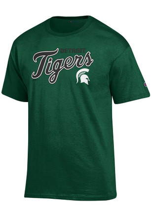 Michigan State Spartans Mens Green MLB Collaboration Tee