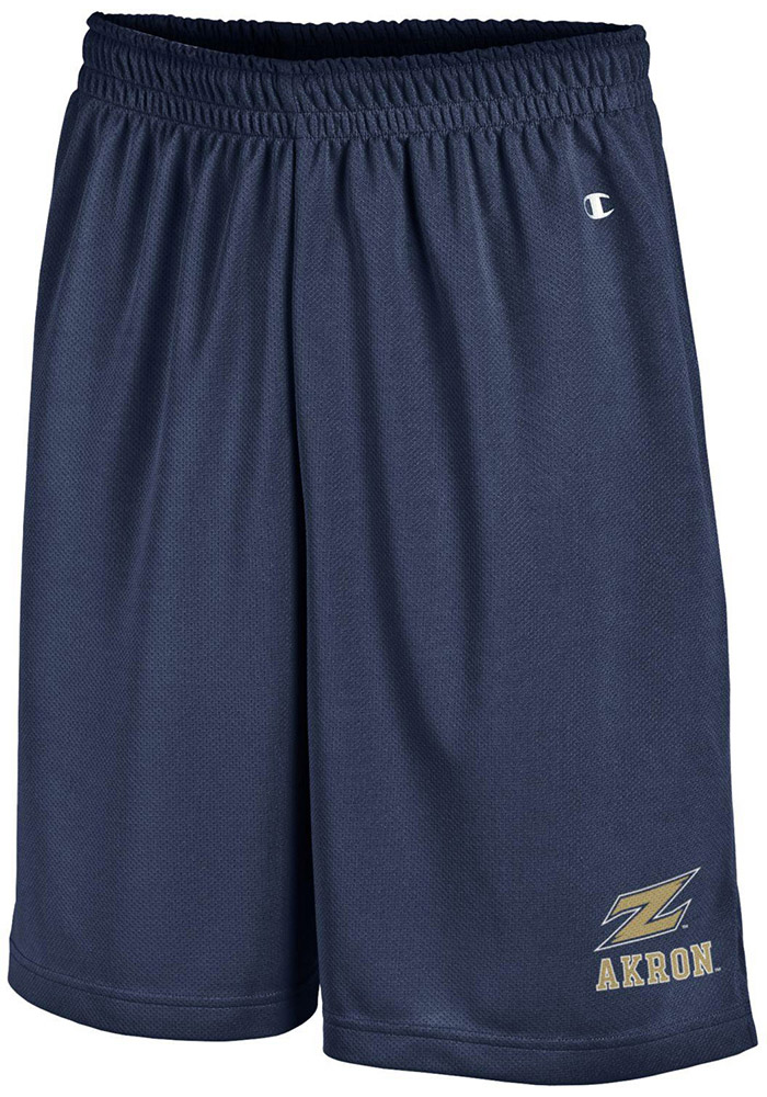 Champion Akron Zips Mens Navy Blue Mesh Shorts, Navy Blue, 100% POLYESTER MESH, Size L