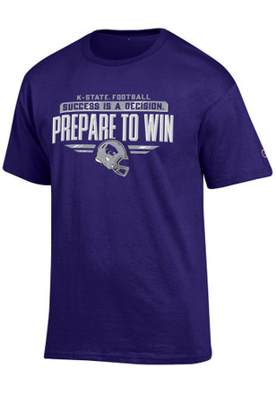 K-State Wildcats Mens Purple Prepare to Win Tee