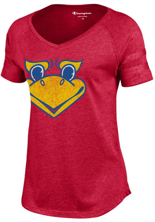 Kansas Jayhawks Womens Red Triumph T-Shirt