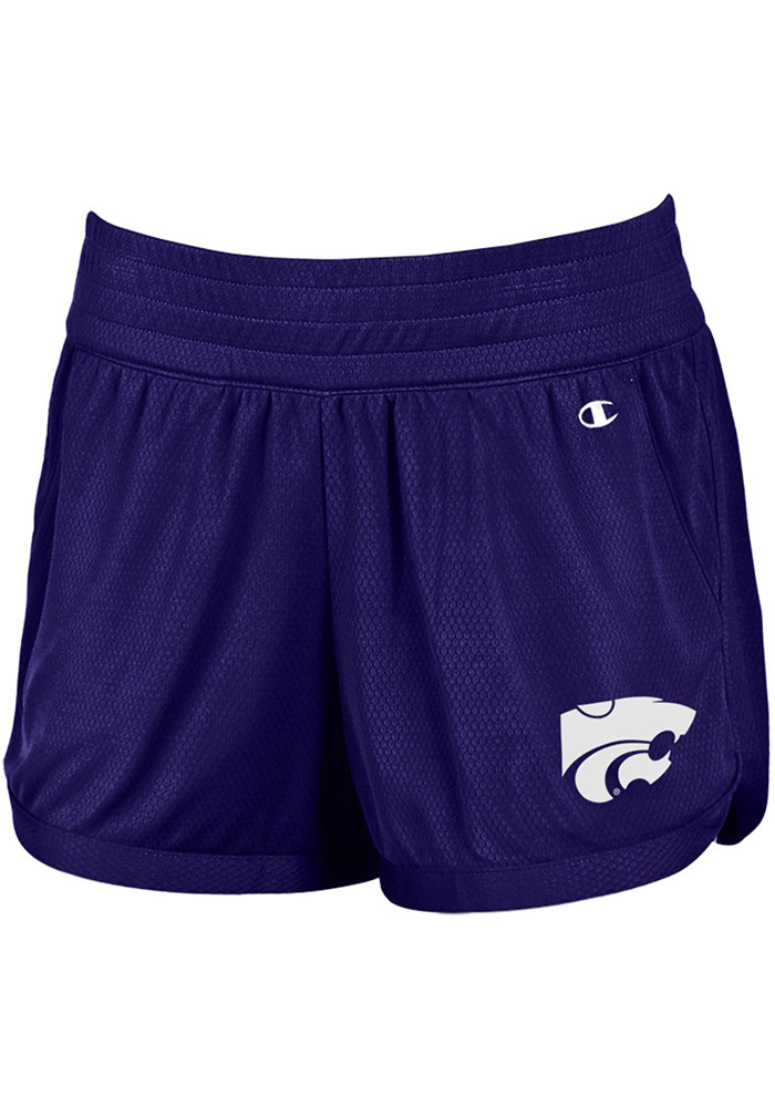 Champion K-State Wildcats Womens Purple Endurance Shorts, Purple, 100% POLYESTER, Size L