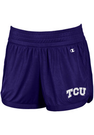 TCU Horned Frogs Womens Champion Endurance Shorts - Purple