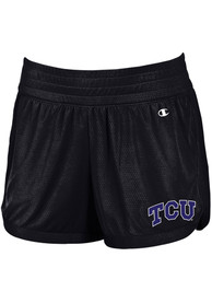 TCU Horned Frogs Womens Champion Endurance Shorts - Black