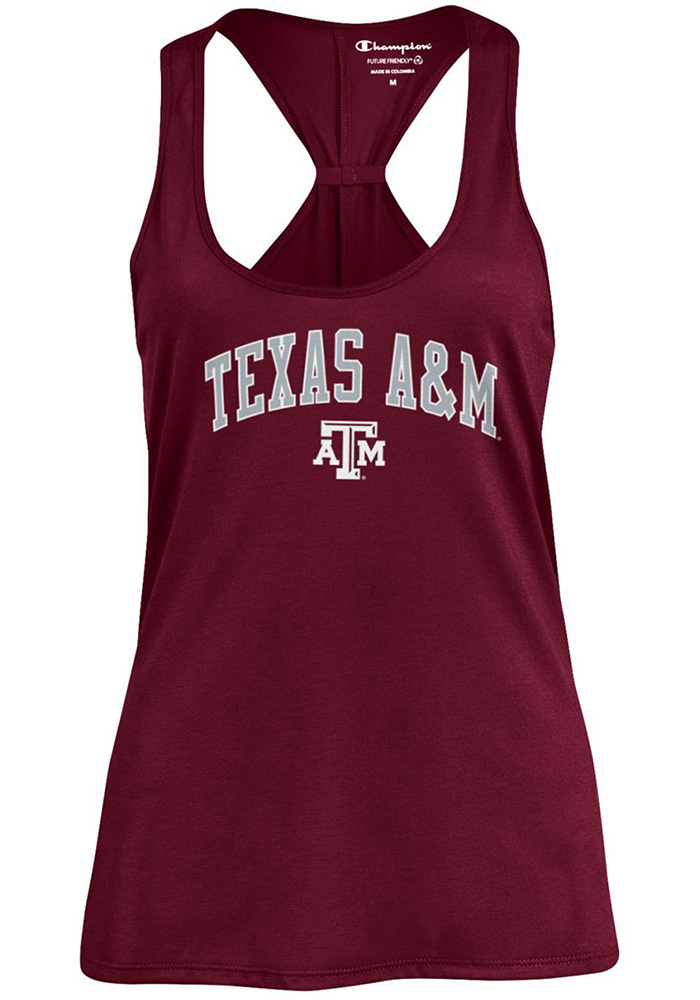 Champion Texas A&M Aggies Womens Maroon Swing Tank Top - Image 1