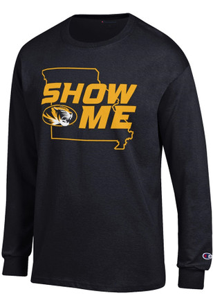 Missouri Tigers Mens Black Show Me State Outline Tee
