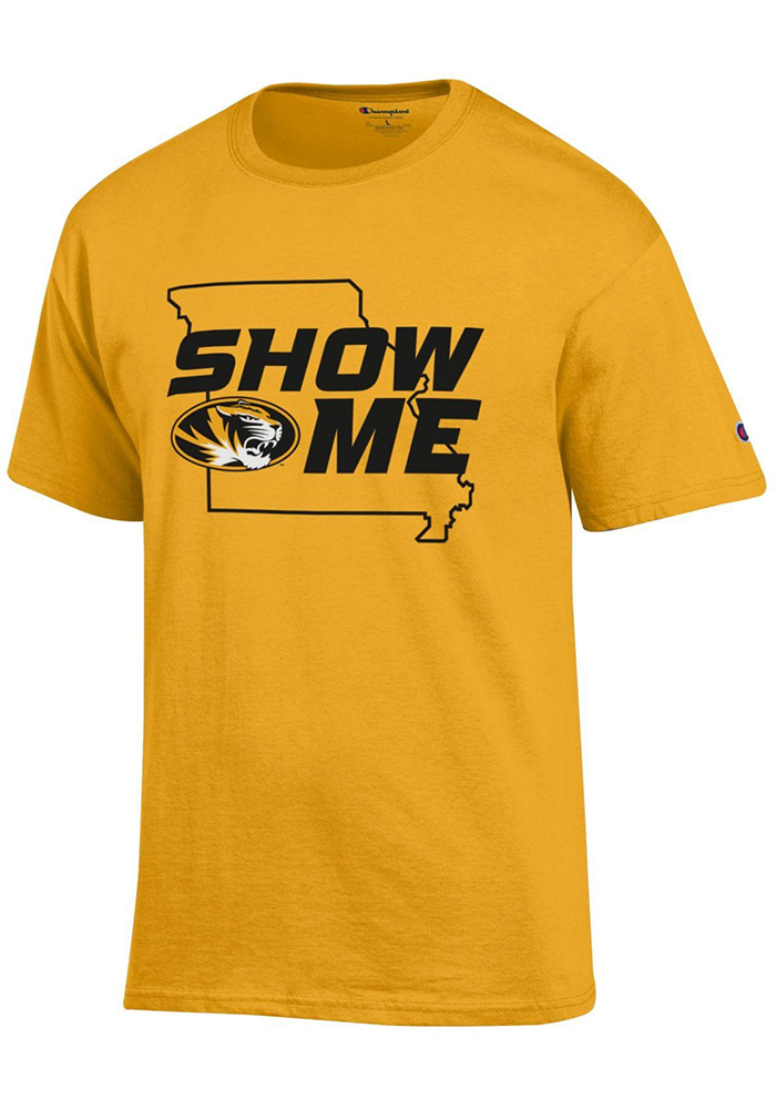 Champion missouri tigers mens gold show me state outline - Show me a picture of the tiger ...