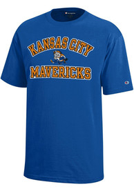 Kansas City Mavericks Youth Blue #1 Design T-Shirt