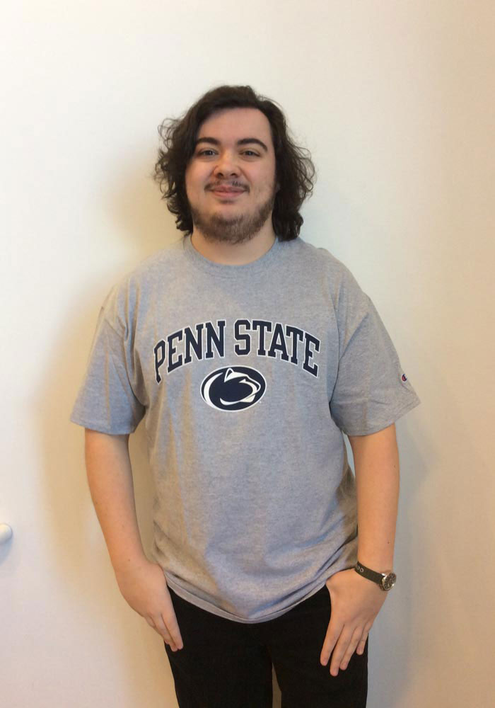 Champion Penn State Nittany Lions Grey Arch Mascot Short Sleeve T Shirt - Image 2