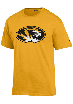 Missouri Tigers Mens Gold Primary Logo Tee