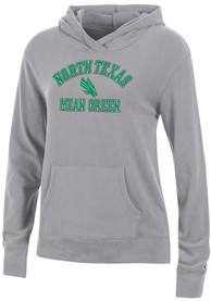 North Texas Mean Green Womens Champion University Lounge Hooded Sweatshirt - Grey