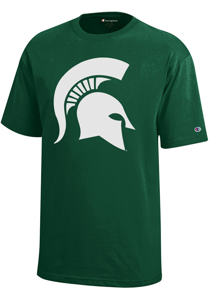 Michigan State Spartans Youth Green Logo Short Sleeve T-Shirt - Image 1