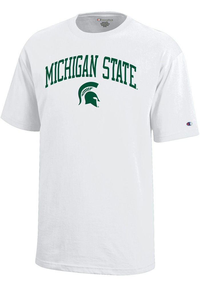 Michigan State Spartans Youth White Arch Short Sleeve T-Shirt - Image 1