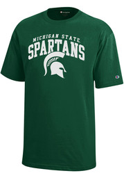 Michigan State Spartans Youth Green Arch Logo T-Shirt