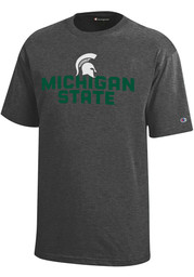 Michigan State Spartans Youth Grey Stacked Logo T-Shirt