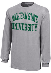 Michigan State Spartans Youth Grey Bold Arch Long Sleeve T-Shirt