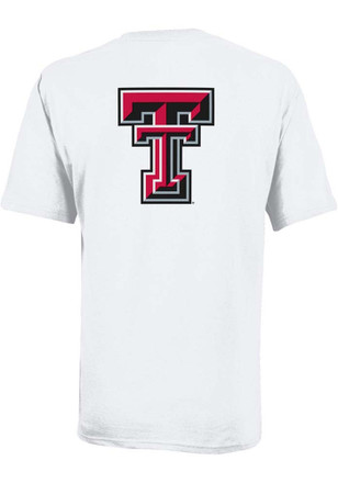 Texas Tech Red Raiders Mens White Red Raider Tee