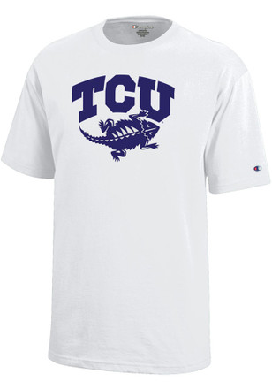TCU Horned Frogs Kids White Arch T-Shirt