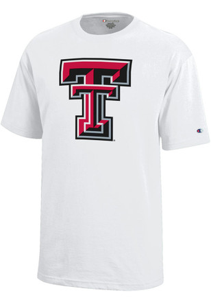 Texas Tech Red Raiders Kids White Logo T-Shirt