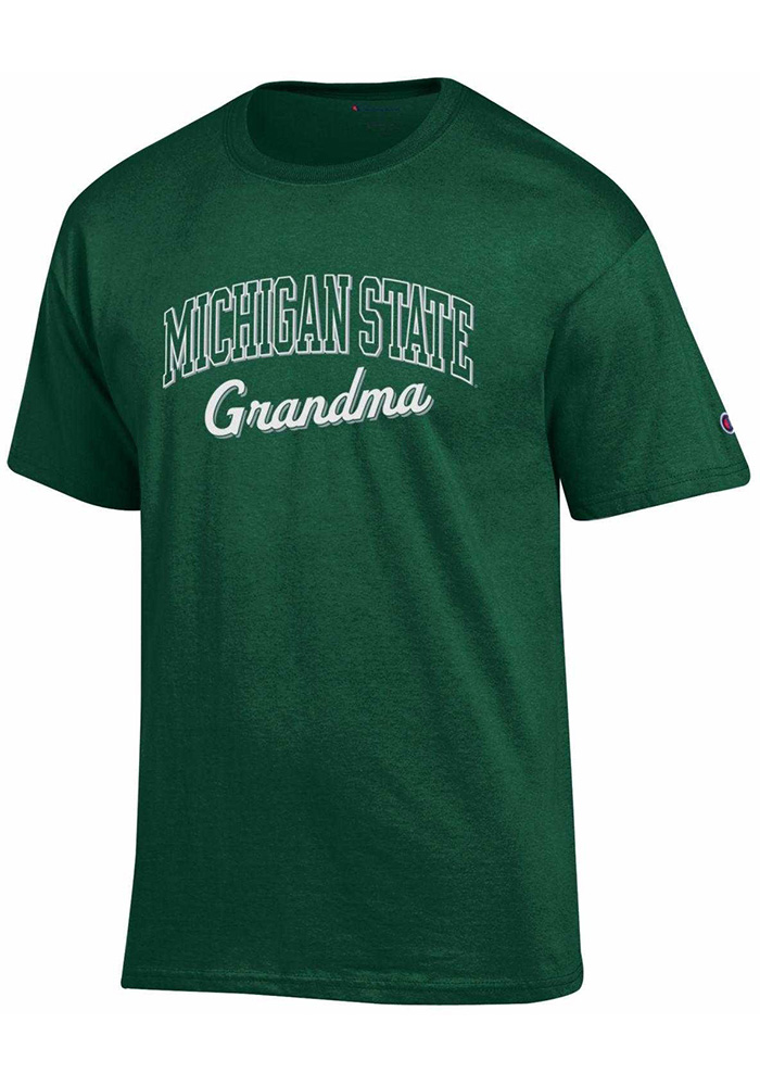 Michigan State Spartans Womens Green Grandma Short Sleeve Unisex Tee - Image 1