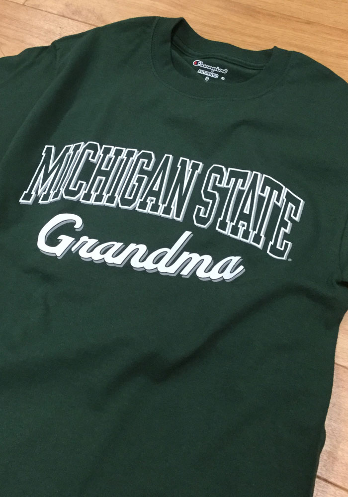 Michigan State Spartans Womens Green Grandma Short Sleeve Unisex Tee - Image 2