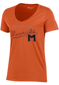 Kansas City Mavericks Womens Orange Arched University Girl V-Neck