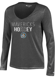 Kansas City Mavericks Womens Grey Hokcey University T-Shirt